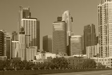 Free Sepia Towers Royalty Free Stock Photo - 5464955