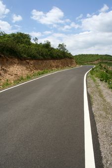 Road Line And Curve Royalty Free Stock Image