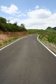 Road Line And Curve Stock Image