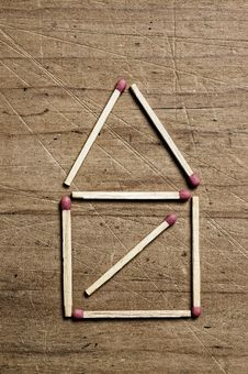 Free House Of Matches. Royalty Free Stock Image - 5465346