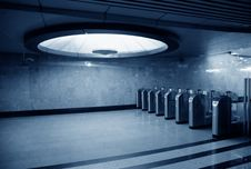 Free Automatics On Entrance In Subway Station Stock Photo - 5466010