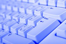 Free Blue Keyboard Royalty Free Stock Images - 5467539