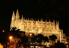 Cathedral At Night Stock Photography