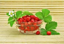 Free Red Strawberry Fruits With Green Leafs Royalty Free Stock Image - 5468996