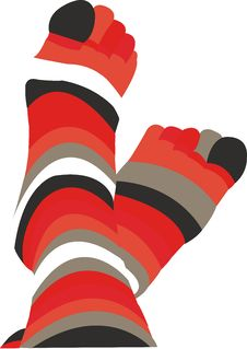 Free Pair Striped  Socks Stock Photos - 5469013