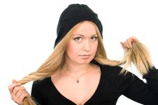 Free Woman In Black Hood Royalty Free Stock Photography - 5469017