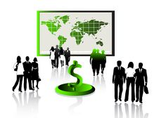 Free Business People And Map Stock Images - 5469064