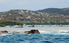 Free St.Thomas Island Harbour Royalty Free Stock Photography - 5469457