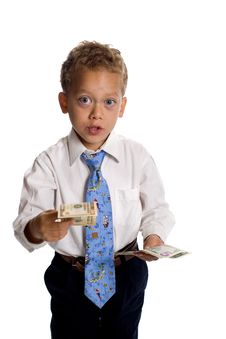 Free Boy Dressed As Businessman Stock Image - 5469501