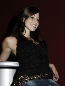 Free Brunette In Modern Club Stock Photo - 5469560