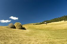 Free Hay Stacks Royalty Free Stock Photography - 5469677