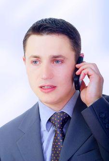 Free Businessman Talking On Phone Stock Image - 5469691