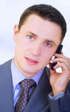 Free Businessman Talking On Phone Stock Photos - 5469693