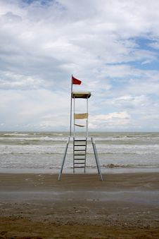Free Lifeguard Station, Italy Royalty Free Stock Photos - 5469988
