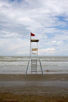 Free Lifeguard Station, Italy Royalty Free Stock Photos - 5469988