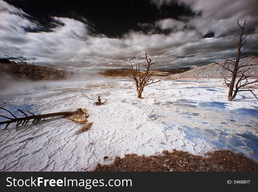 Yellowstone Terraces, Infrared