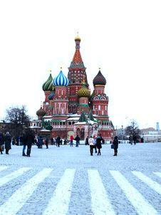 Saint Basil S Cathedral On Red Square Royalty Free Stock Photo