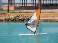 Free Man Surfing On Sea Near Coast Royalty Free Stock Photo - 5472565