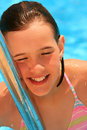 Free Young Girl In The Pool Royalty Free Stock Images - 5473339