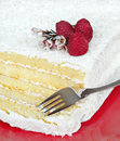 Free Coconut Cake With Raspberries Royalty Free Stock Images - 5474639