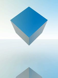 Free Floating Cube Stock Photos - 5470273