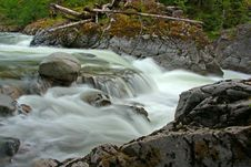 Free Water Flowing Into Canyon Royalty Free Stock Photos - 5470848