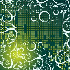 Free Green Floral Background Royalty Free Stock Images - 5470899