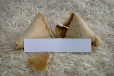 Free Fortune Cookie On A Rice Bed Royalty Free Stock Photo - 5471165