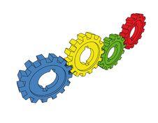 Free Isolated Cogwheels Royalty Free Stock Image - 5471476