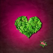Free Leaf Heart Royalty Free Stock Image - 5471756