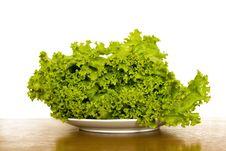 Free Fresh Lettuce On Plate Stock Photos - 5471953