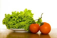 Lettuce And Tomatoes Royalty Free Stock Images