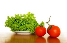 Lettuce And Tomatoes Stock Photo