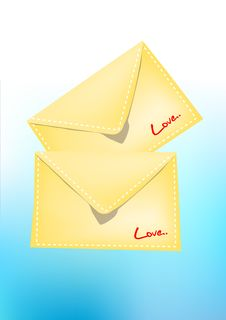 Free Vector Love Mails Stock Images - 5472384