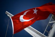 Free Turkish Flag Waving In The Wind. Stock Photography - 5472402