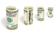 Free Money On White Background Stock Photos - 5472533