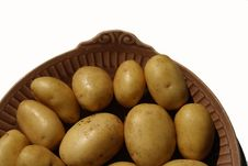 Free Isolated Potato Royalty Free Stock Photography - 5472947