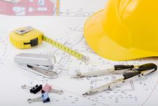 Building Plan Stock Photo