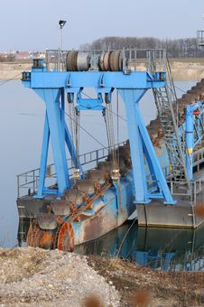 Dredger 007 Royalty Free Stock Image