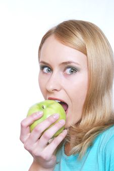 Free The Girl With An Apple Stock Photography - 5473662