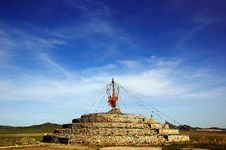 Free Mongolian Cairn Royalty Free Stock Photo - 5473885