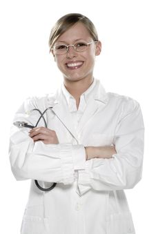 Free Young Woman Doctor Stock Photography - 5474032