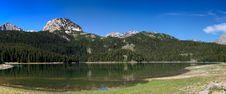 Free Panorama Of Mountain Lake Royalty Free Stock Photos - 5474298