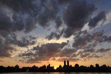 Free Manhattan Sunset Royalty Free Stock Photos - 5474558