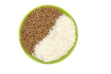 Rice And Buckwheat Stock Image