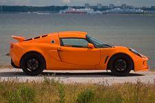 Free An Orange Sportscar Royalty Free Stock Photo - 5475145