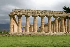 Temple Of Hera In Paestum. Royalty Free Stock Photos