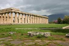 Temple Of Hera In Paestum. Royalty Free Stock Images