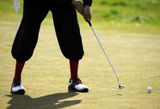 Free Putter, Golf Ball And Feet Royalty Free Stock Photo - 5476775