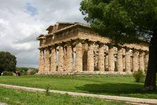Temple Of Hera In Paestum. Stock Photo